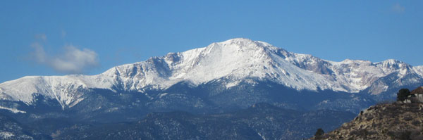 Snow Covered Pikes Peak