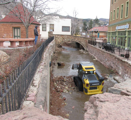 Debris Removal from Manitou Springs Fountain Creek