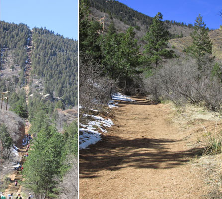 Incline and New Trail in Manitou Springs
