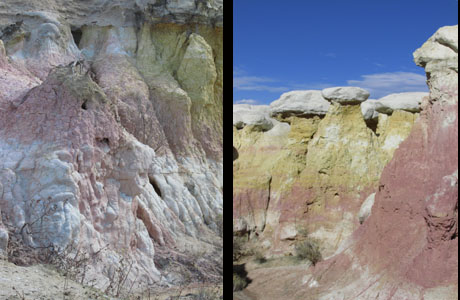 Colorful Formations in Colorado Paint Mines Park