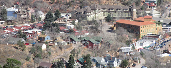 Downtown Manitou Springs from Trail