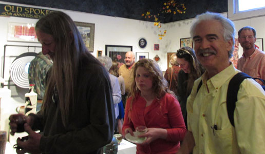 "Jeff Shook, Barry Kaplan, Karl Ahlen at ""Old Spokes"" at Commonwheel Artists Gallery"
