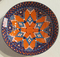"Coreen Abbott's bowl in ""Old Spokes"" at Commonwheel Artists Gallery"
