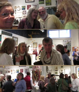 "Art Patrons at ""Old Spokes"" at Commonwheel Artists Gallery"