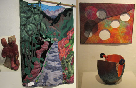 "Quilts, Carvings & Clay in ""Old Spokes"" at Commonwheel Artists Gallery"