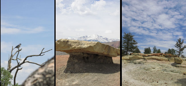 Pikes Peak & Rocks at Ute Valley Park in Colorado