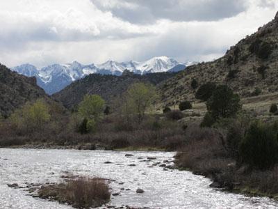 River on the way to Salida
