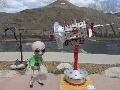 Sculptures in Salida - Rocket Man