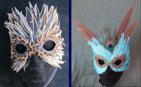 Small Tiger and Winged Turquoise Masks