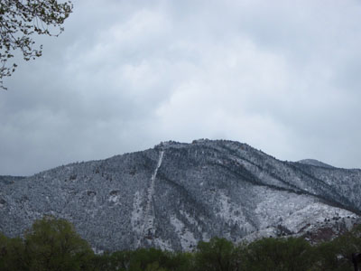 Mother's Day Snowy Incline in Manitou Springs