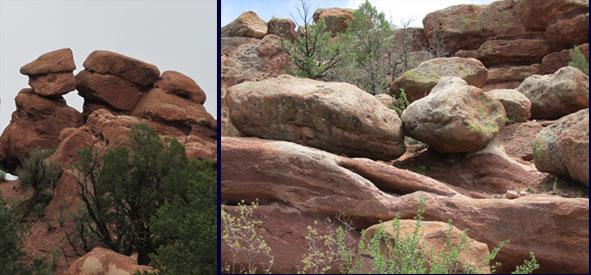 Kissing Rocks in Garden of the Gods