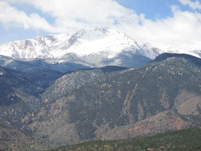 Pikes Peak & Incline viewed from Garden of the Gods