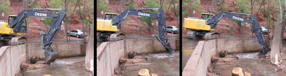 Dredging Fountain Creek in Manitou Springs