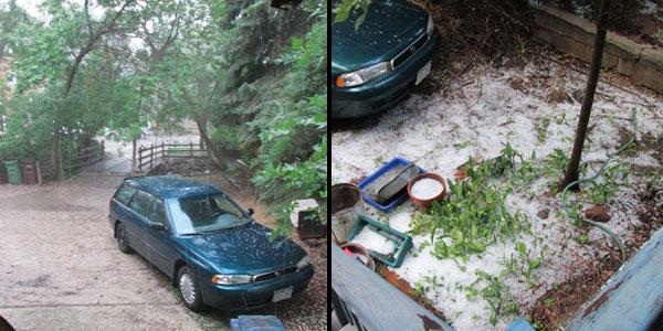 Heavy Rain & Hail Storm in Manitou Springs
