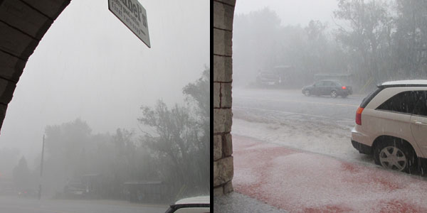 Heavy Rain & Hail Storm in Manitou Springs