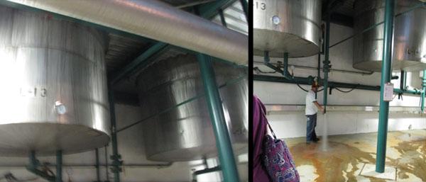 Distillery Below discharging water.