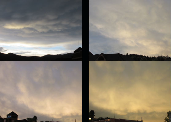 Unusual Sunset in Manitou Springs