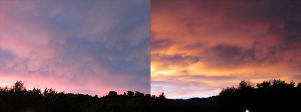 Pink & Orange Sunset in Manitou Sprngs