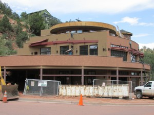 Spa Under Construction by Manitou Springs Memorial Park