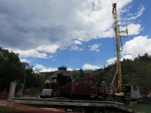 Drilling a new well at 7 Minute Spring