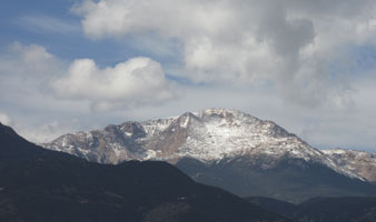 Pikes Peak from Catamount Trail Nov 2014