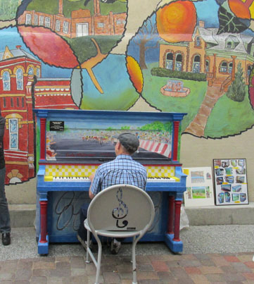 Painted Piano in Ft. Collins Creative District