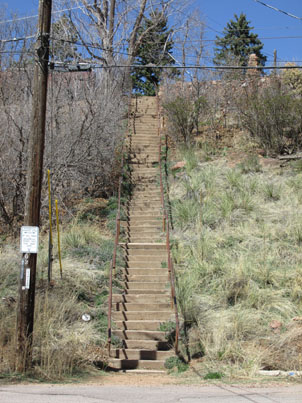Stairs by Miramont Castle in Manitou Springs