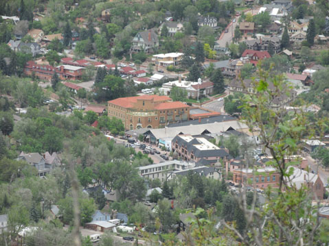 View of Manitou Springs from Iron Mountain